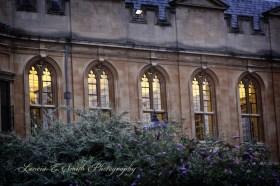 Oxford window light at dusk
