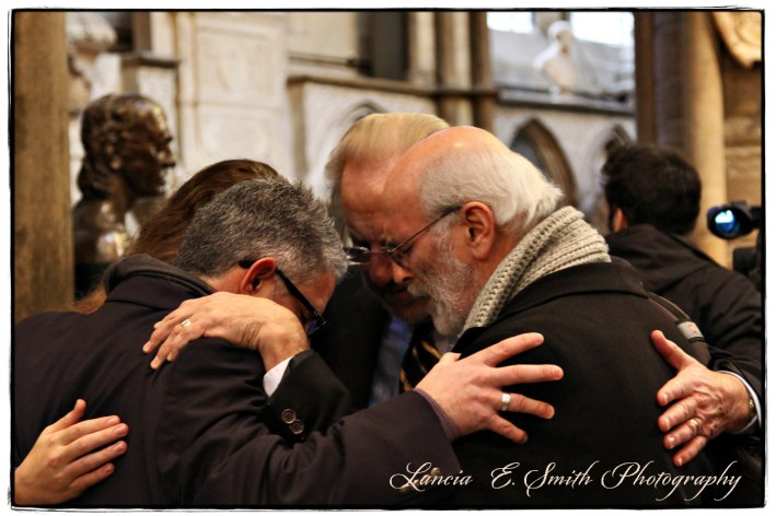 Prayer Huddle in Westminster Abbey - Image (c) Lancia E. Smith