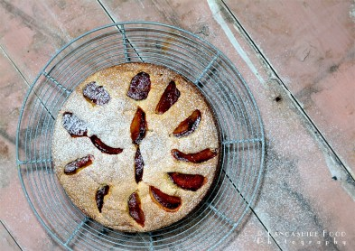 Rustic Plum Cornmeal Cake