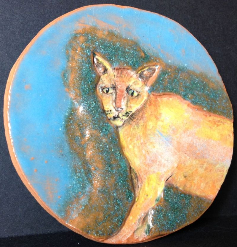 Blue cosmic cat. SOLD.