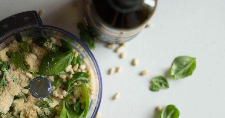 15 Minuten – Basilikum Pesto