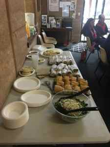 Yummy catering at the SJ Equine Landcare Property Planning Course