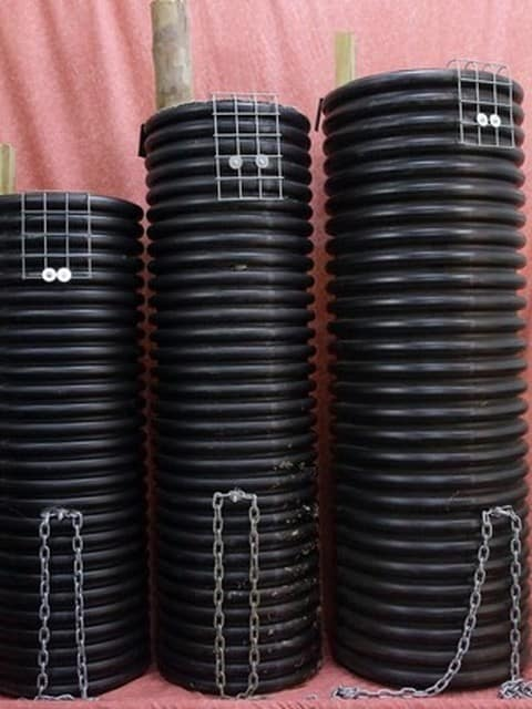 corrugated polypipe nestbox for black cockatoo