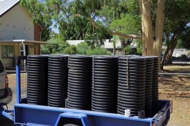 artificial nest boxes for Black Cockatoos at Landcare SJ , Mundijong Western Australi