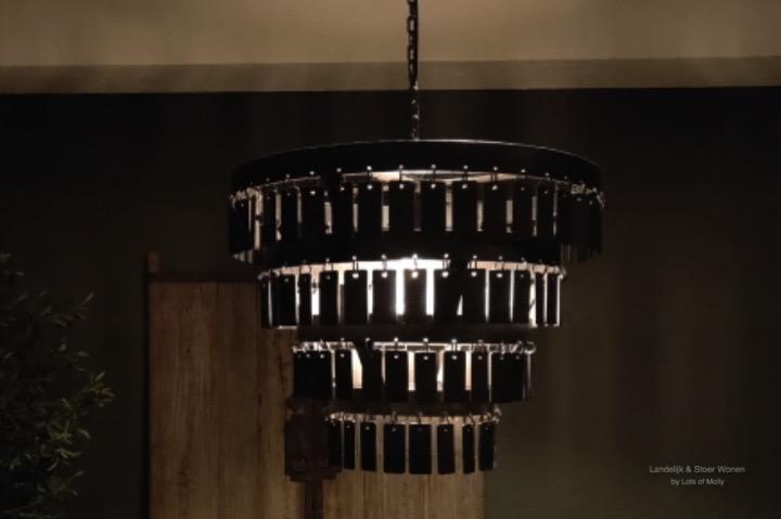 Landelijk metalen hanglamp