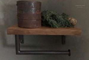 Robuuste toiletrolhouder gemaakt van teakhout
