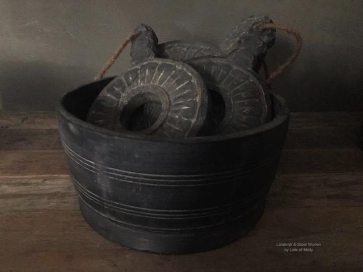 Mooie houten pot van Aura Peeperkorn