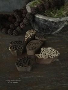 Set van 6 kleine printblok van Aura Peeperkorn