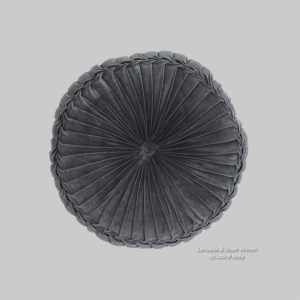 Velvet kussen grijs