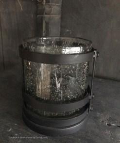 Windlicht zwart metaal