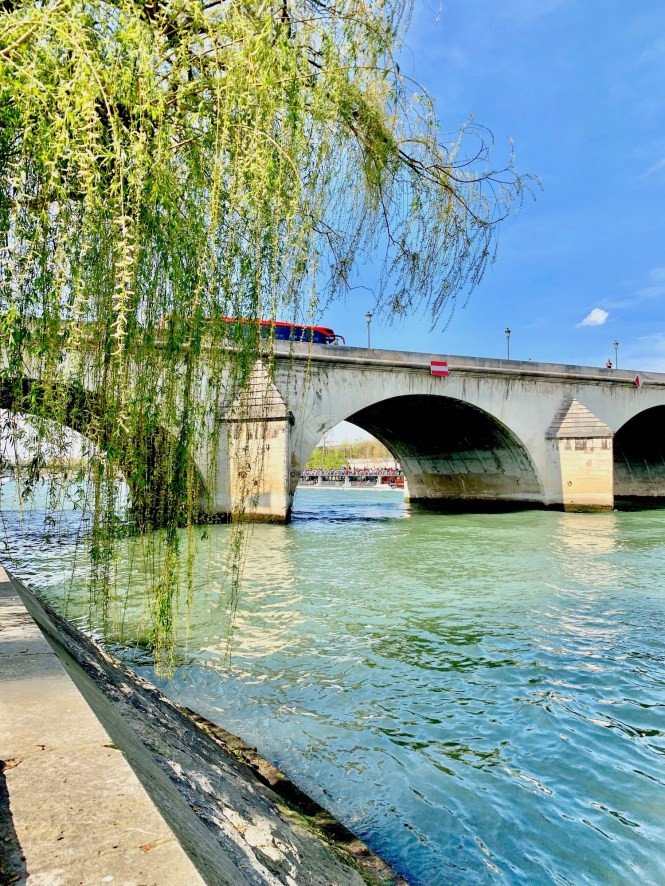 April in Paris Seine River Bank