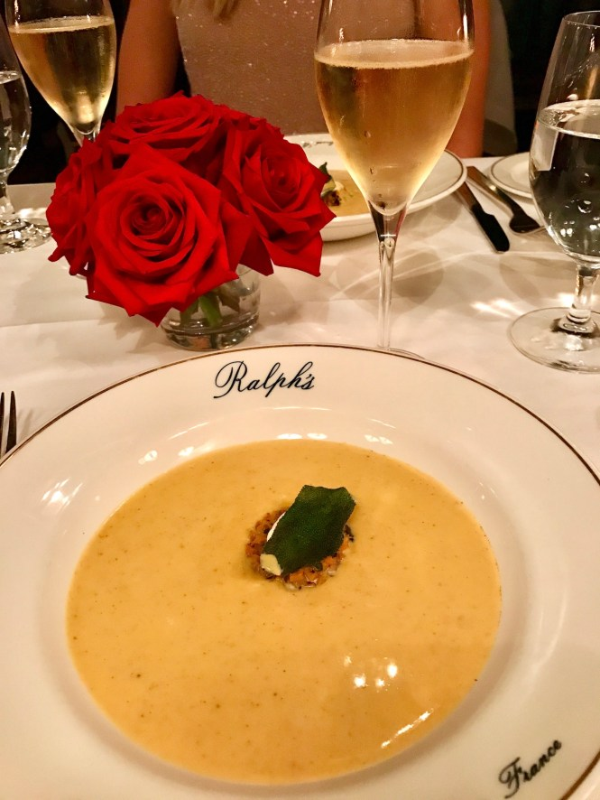 Thanksgiving Soup and Champagne