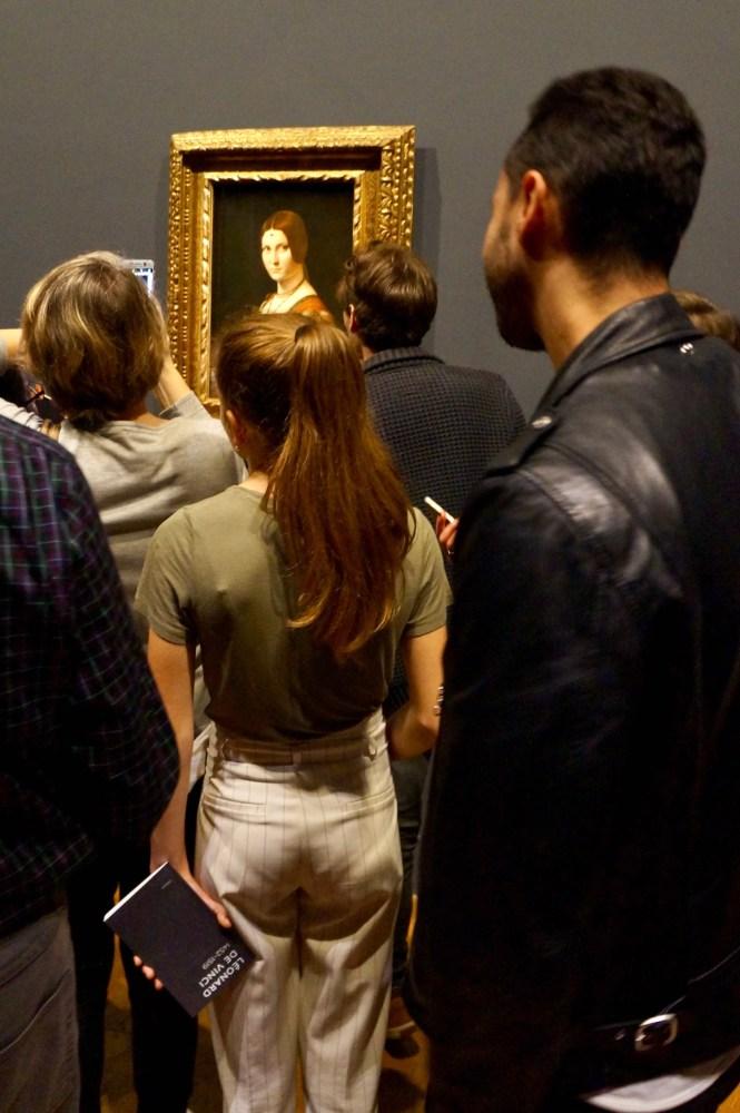 La Belle Ferronnière crowd