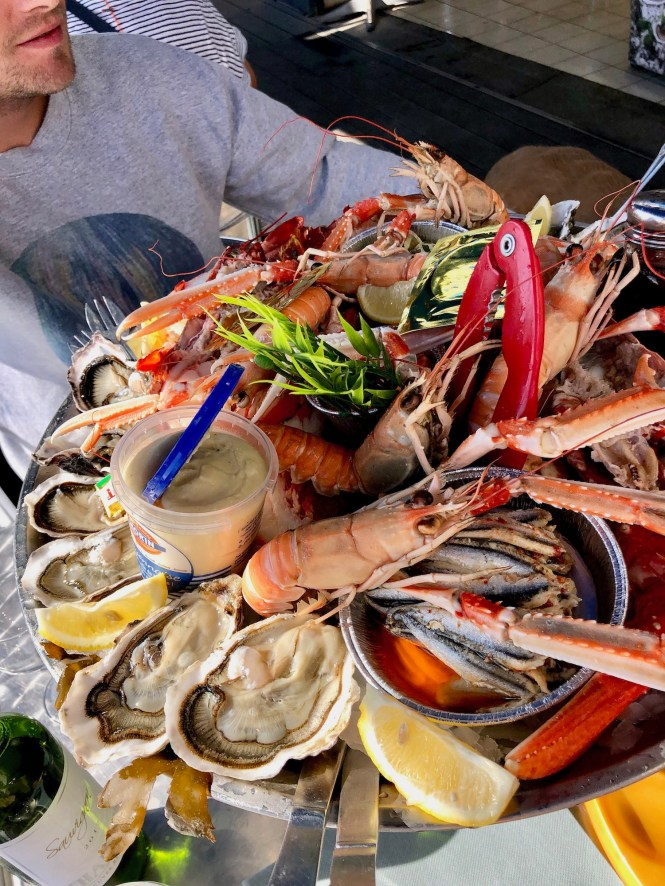 Seafood Tower at Au P'tit Mareyeur in Granville Normandy
