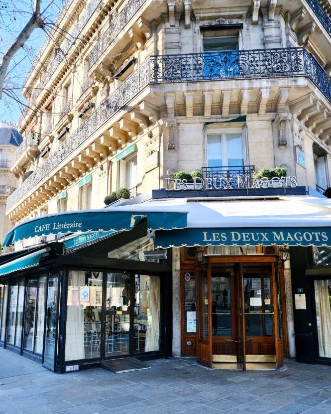 Les Deux Magots Closed Paris Lockdown