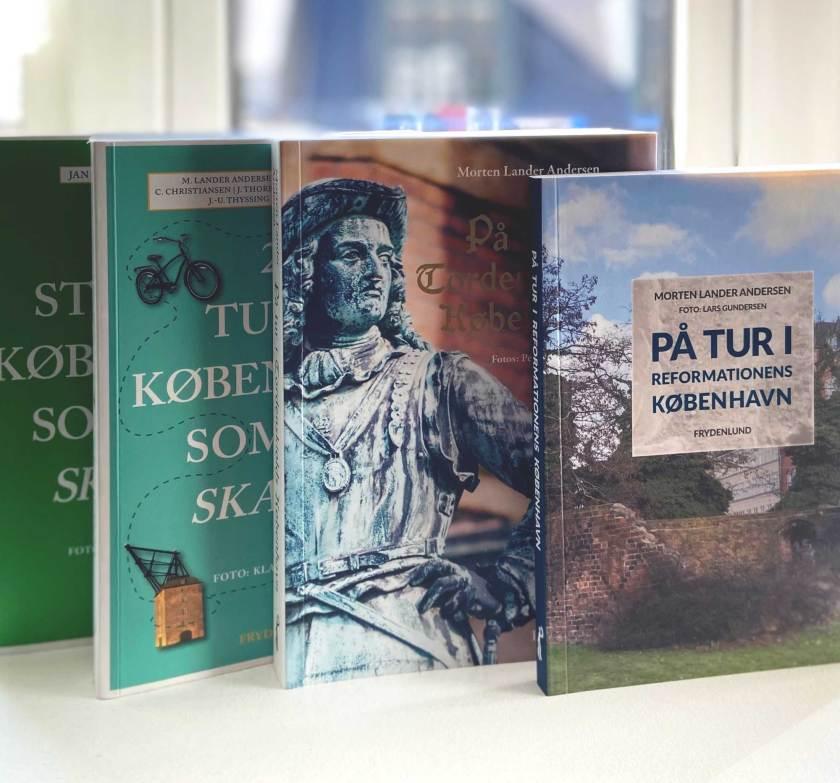 Billeder af bøger Morten Lander Andersen har skrevet