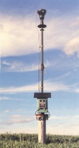 Landfill gas monitoring - example of an old-style candle flare
