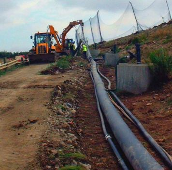 Landfill gas extraction pipework