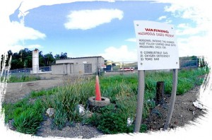 Landfill gas management compound