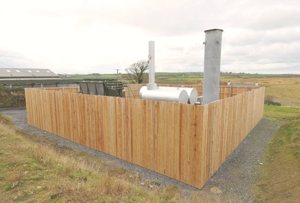 Image shows a landfill gas recovery compound.