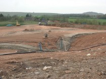 A UK Landfill Site During Restoration Capping