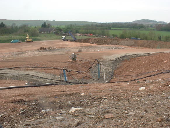 landfill site pictured during restoration capping