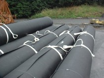 HDPE Geomembrane Landfill Liner Material in Rolls Ready to be Used