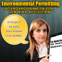 """Image illustrates a point about environmental permitting needing a lot of """"box-ticking"""" on long application forms!"""