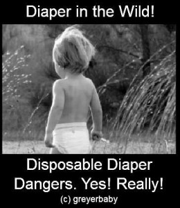 disposable diaper danger black and white