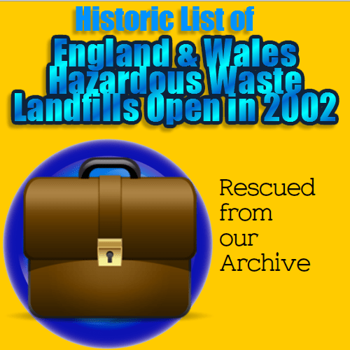England and Wales hazardous waste landfills 2002 top image