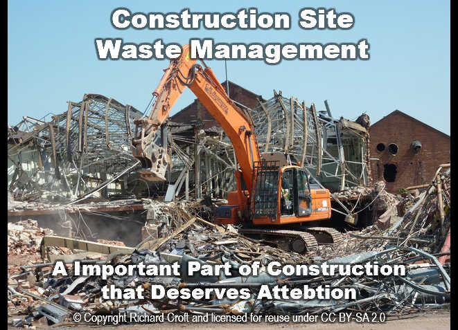demolition site construction waste management site