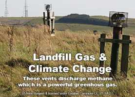 methane vents landfill gas climate change