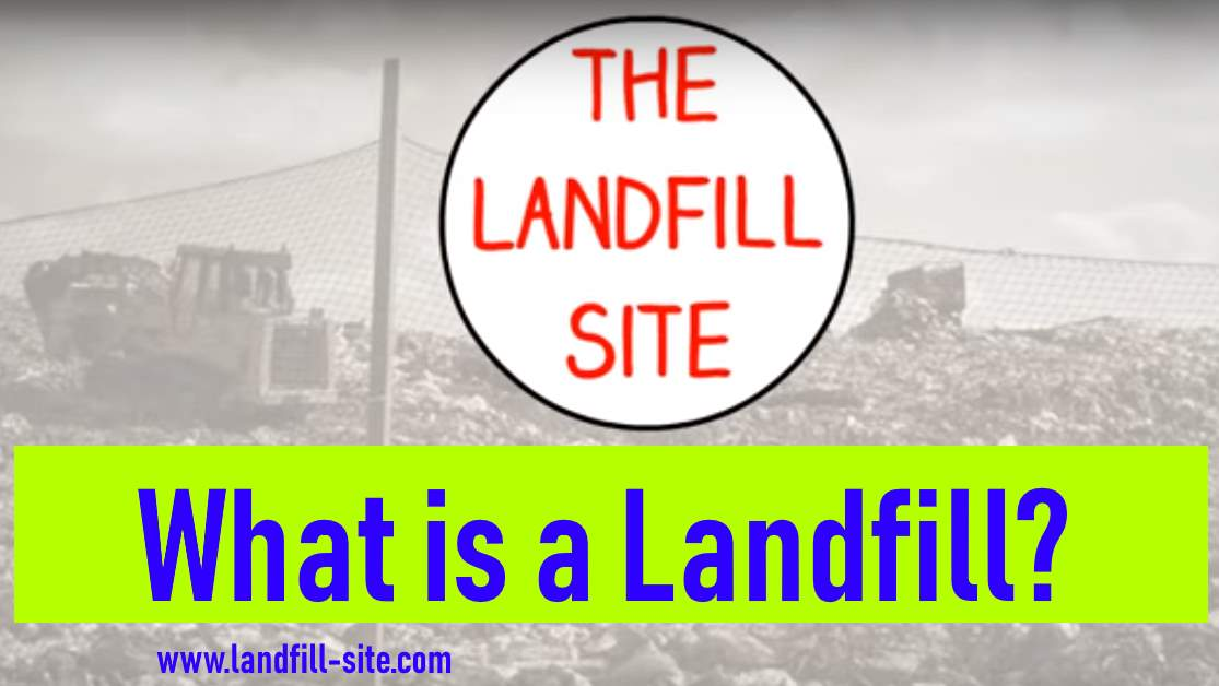 """Image shows intro to our article replying to; """"what is a landfill?"""""""