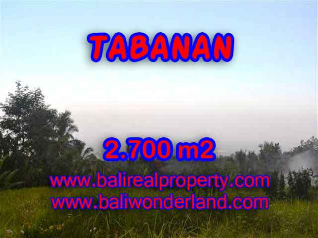 Beautiful Land for sale in Bali, mountain, ricefields, river and ocean view in Tabanan Bali – TJTB128
