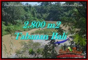 Exotic 2,800 m2 LAND IN TABANAN BALI FOR SALE TJTB276