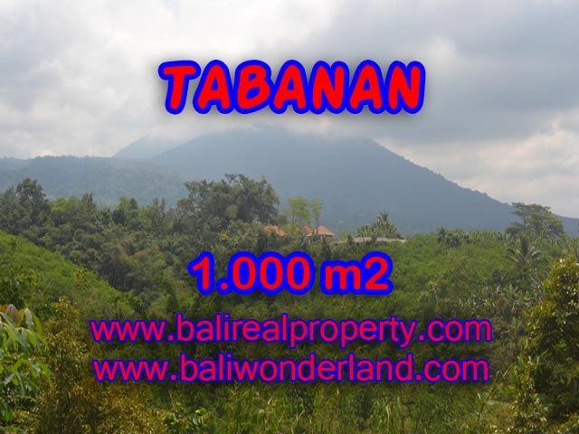 Interesting Land for sale in Tabanan Bali, green lush and city view in JATILUWIH TABANAN - TJTB078