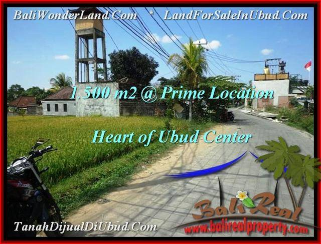 Exotic 1,500 m2 LAND FOR SALE IN UBUD BALI TJUB508