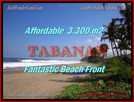Exotic 3.300 m2 LAND FOR SALE IN TABANAN BALI TJTB157