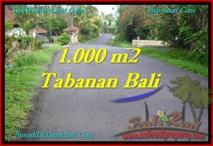 FOR SALE Affordable 1,000 m2 LAND IN TABANAN TJTB243