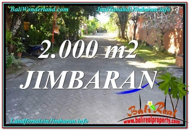 Exotic PROPERTY 2,000 m2 LAND SALE IN JIMBARAN TJJI115