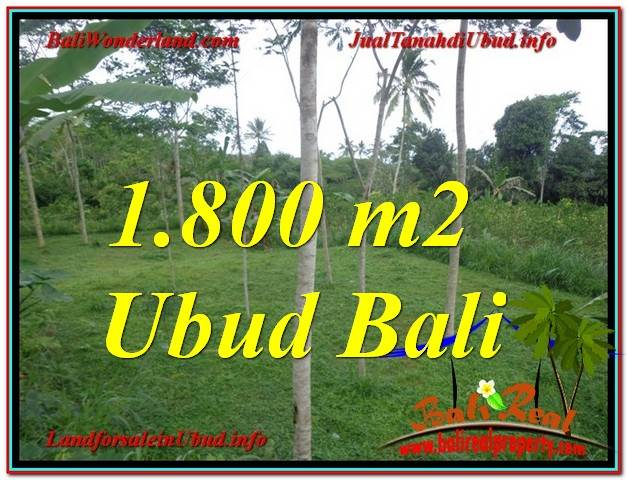 Exotic 1,800 m2 LAND SALE IN UBUD TJUB610