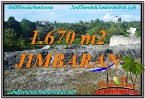 Exotic Jimbaran Ungasan 1,670 m2 LAND FOR SALE TJJI116