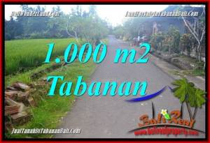 TABANAN BALI 1,000 m2 LAND FOR SALE TJTB363