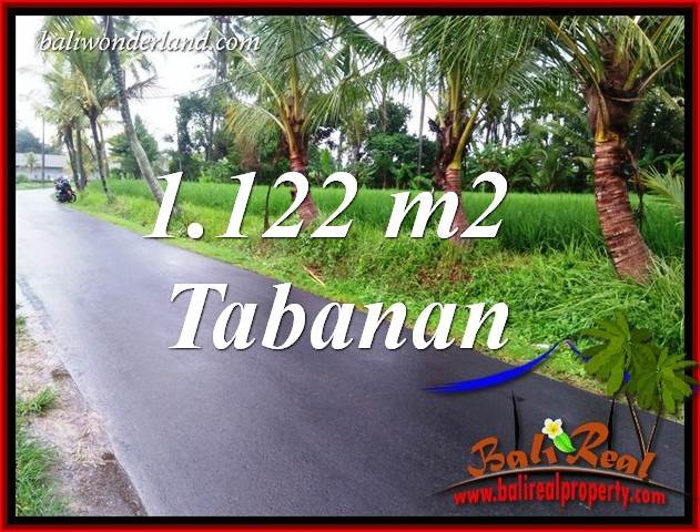 Affordable 1,122 m2 Land in Tabanan Bali for sale TJTB404