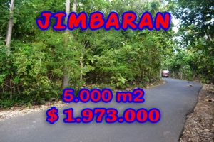 Interesting Property for sale in Bali Indonesia, land for sale in Jimbaran Bali  – 5.000 m2 @ $ 394