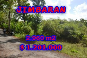 Extraordinary Property for sale in Bali, land for sale in Jimbaran Bali  – 2.960 m2 @ $ 406