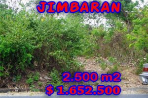 Interesting Property for sale in Bali Indonesia, land for sale in Jimbaran Bali  – 2.500 m2 @ $ 661