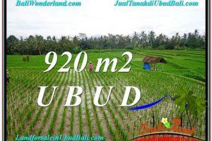 Exotic UBUD BALI 920 m2 LAND FOR SALE TJUB575