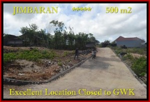 Exotic Jimbaran Ungasan BALI 500 m2 LAND FOR SALE TJJI085