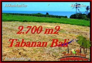 LAND IN Tabanan Selemadeg BALI FOR SALE TJTB286